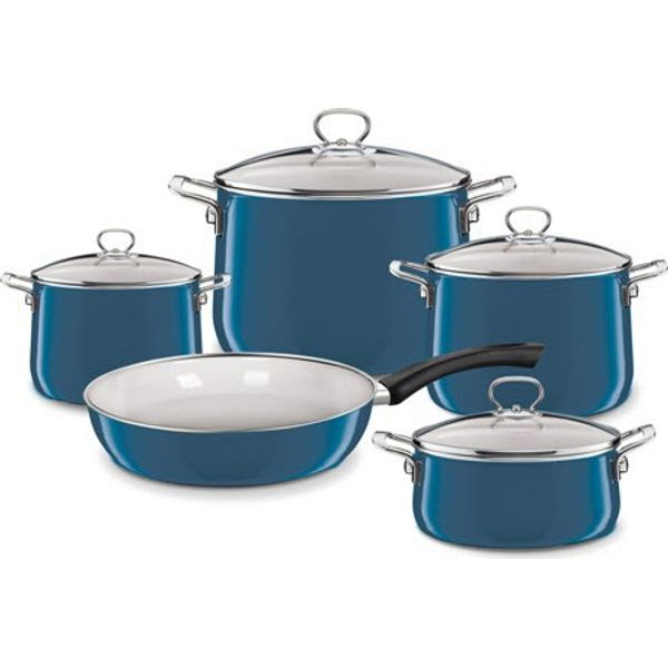 Riess-Kelomat Riess Topfset 5tlg. Aquamarin Emaille 0558-010